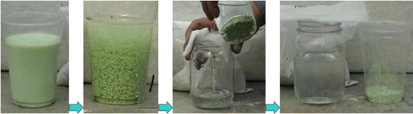 絵の具洗浄水再利用イメージ